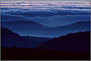 blaue Stunde... Wolkenformationen *Vogesen*