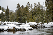 Schnee am Firehole River... Yellowstone Nationalpark *Nordamerika*